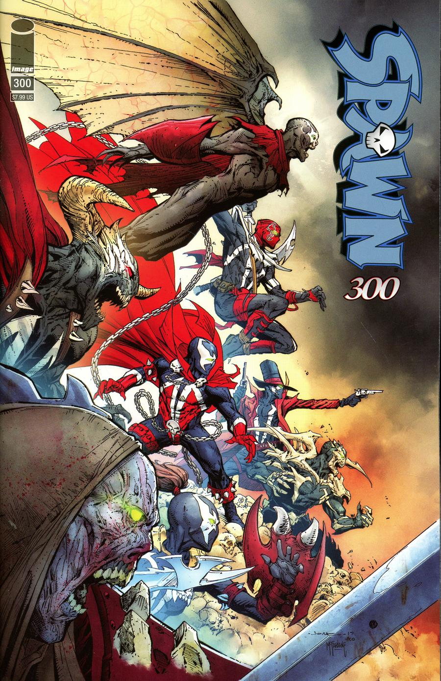Spawn #300 Cover H Variant Jerome Opena Cover