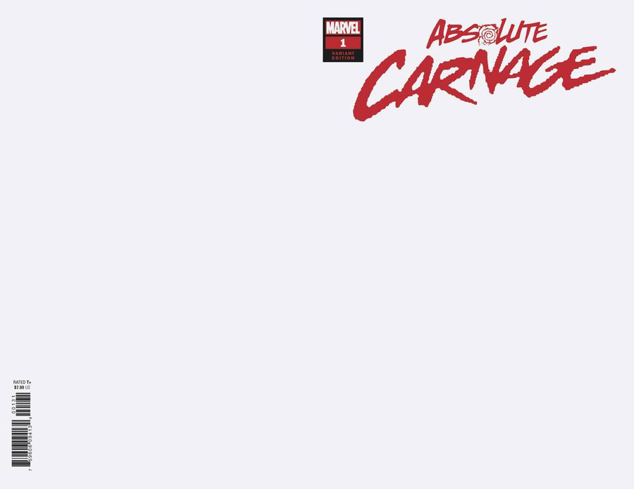 Absolute Carnage #1 Cover H Variant Blank Cover