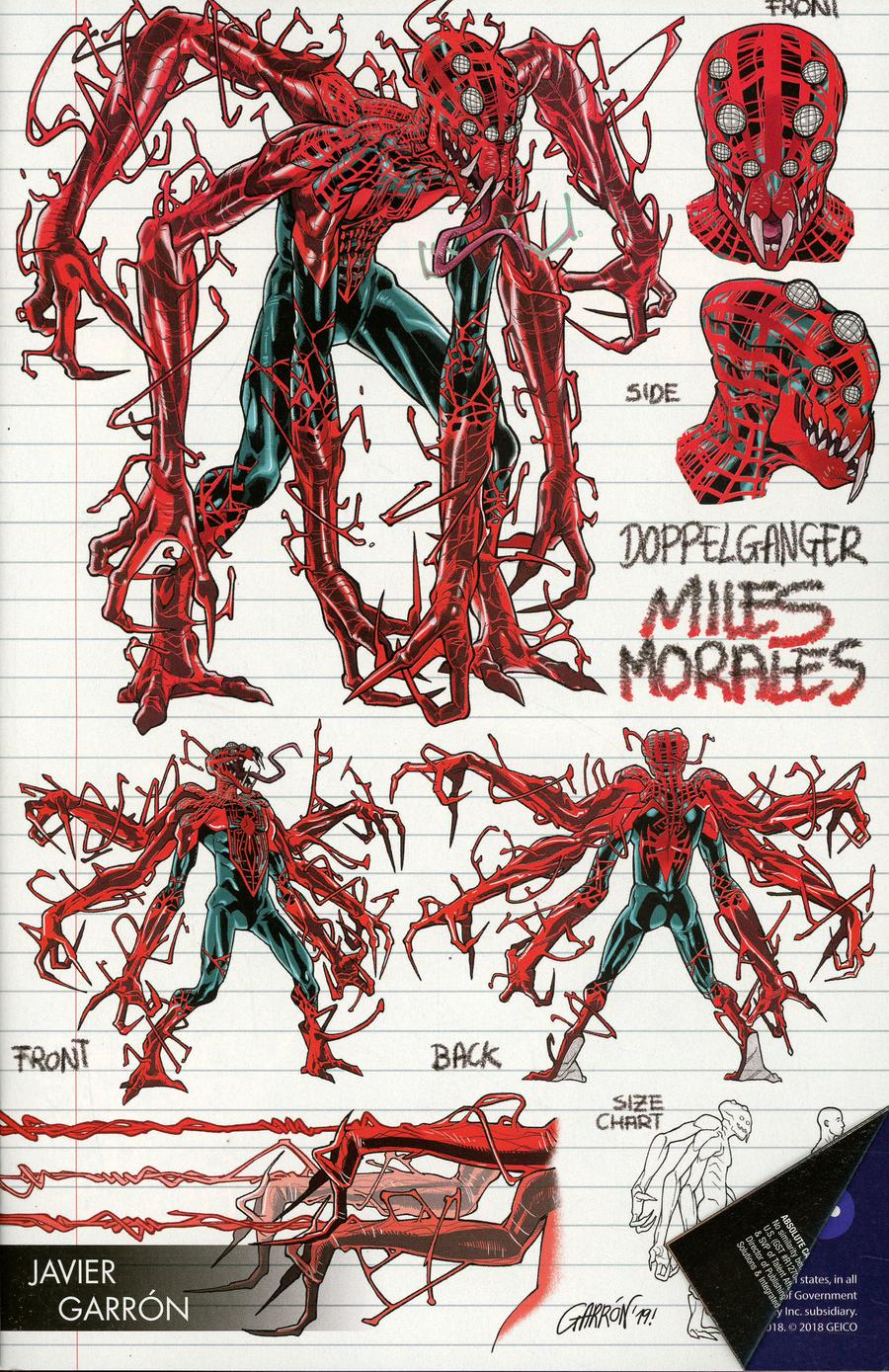 Absolute Carnage Miles Morales #1 Cover C Variant Javier Garron Young Guns Cover