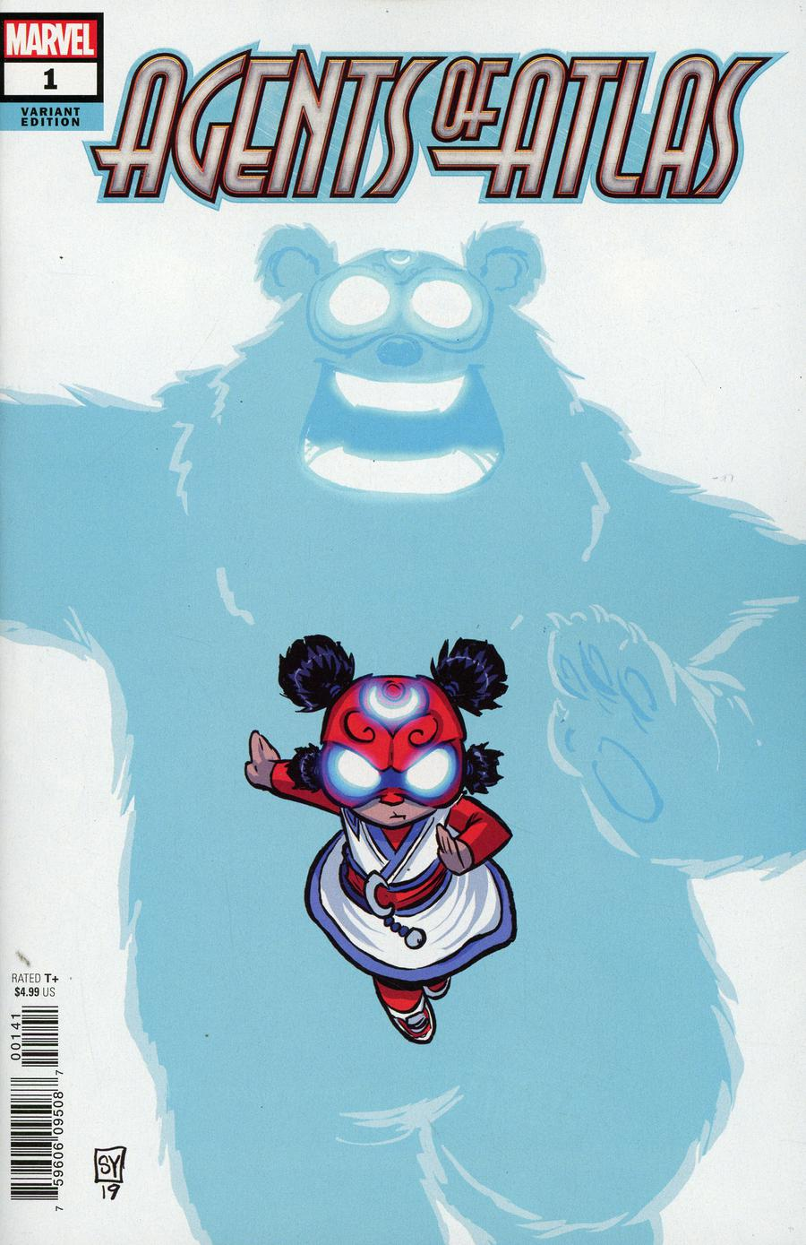 Agents Of Atlas Vol 3 #1 Cover D Variant Skottie Young Cover