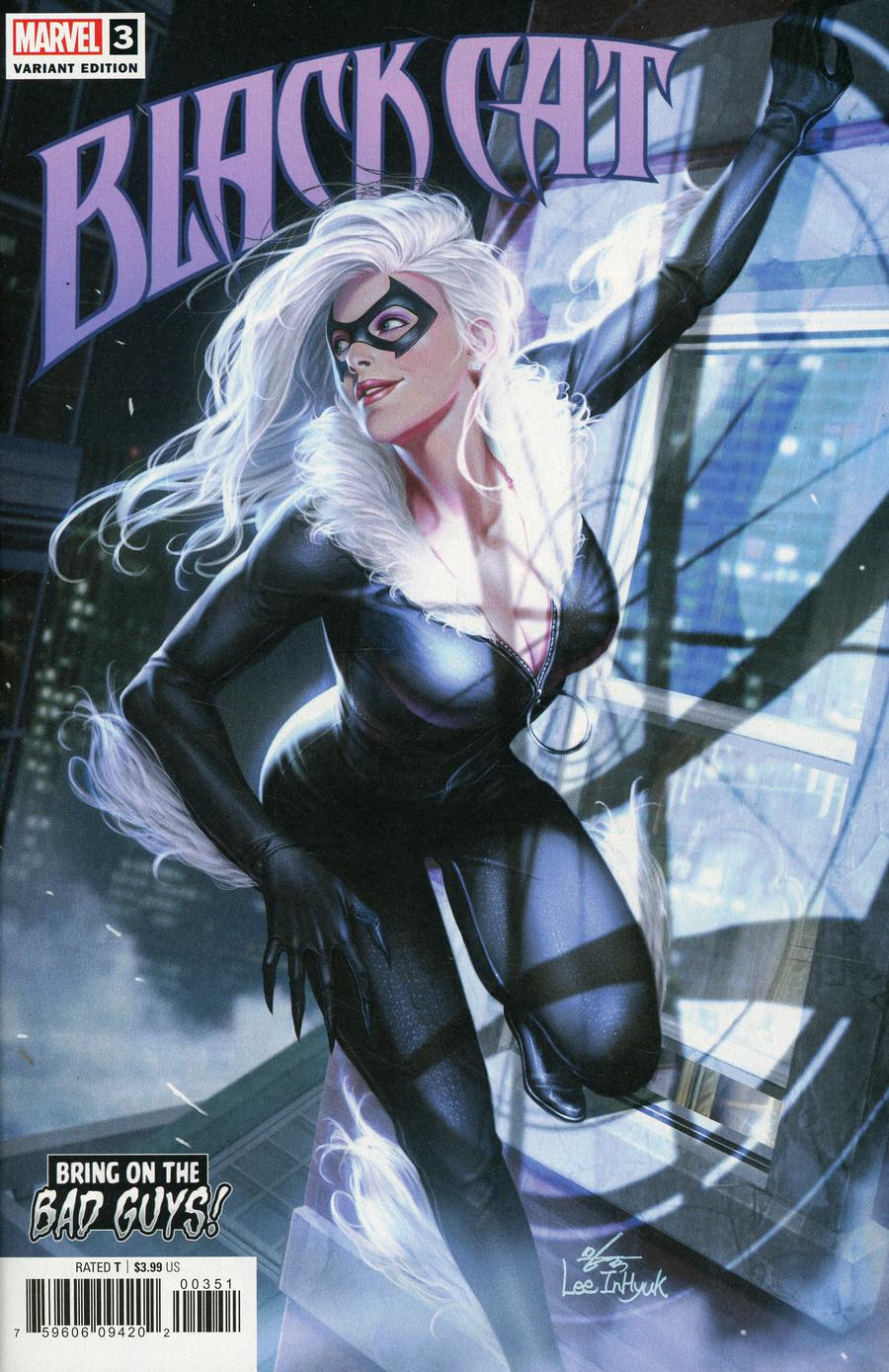 Black Cat #3 Cover B Variant Inhyuk Lee Bring On The Bad Guys Cover