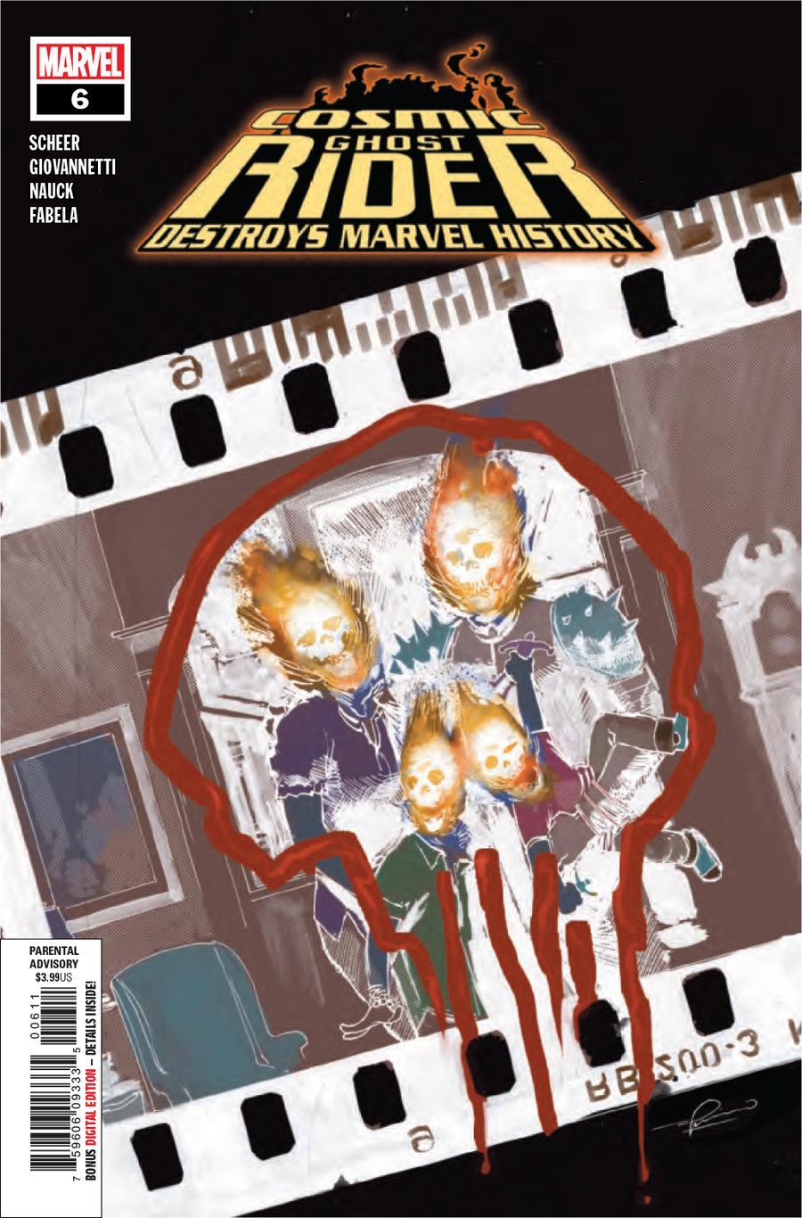 Cosmic Ghost Rider Destroys Marvel History #6 Cover A Regular Gerardo Zaffino Cover