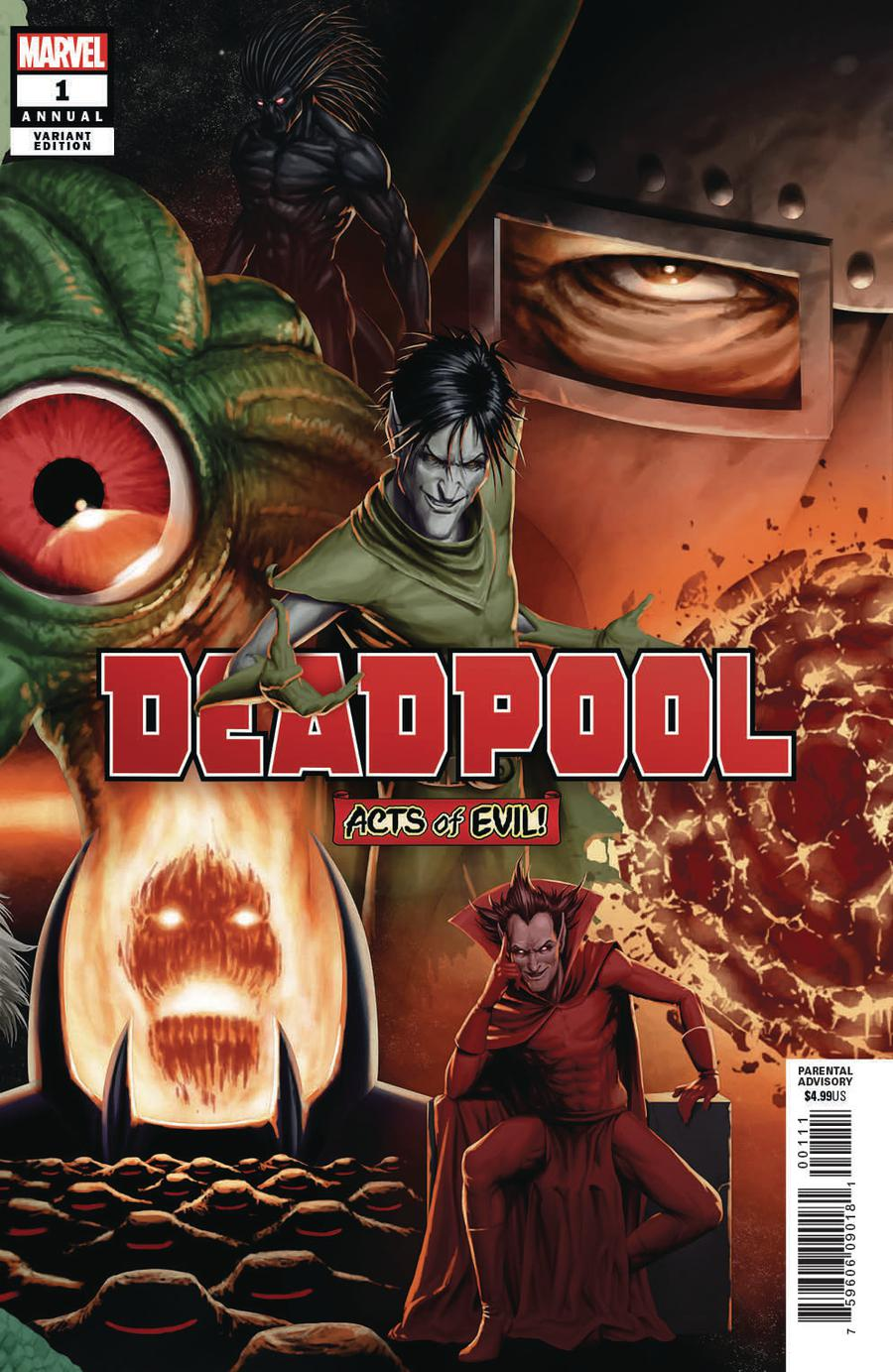 Deadpool Vol 6 Annual #1 Cover B Variant John Tyler Christopher Connecting Cover (Acts Of Evil Tie-In)