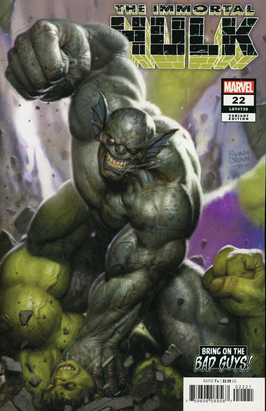 Immortal Hulk #22 Cover B Variant Ryan Brown Bring On The Bad Guys Cover