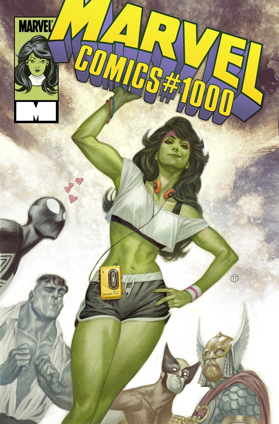Blank Variant Cover Marvel Comics #1000 Comic Book