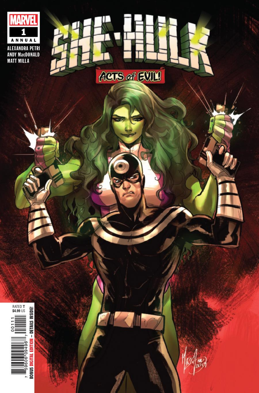 She-Hulk Vol 3 Annual #1 Cover A Regular Mirka Andolfo Cover (Acts Of Evil Tie-In)