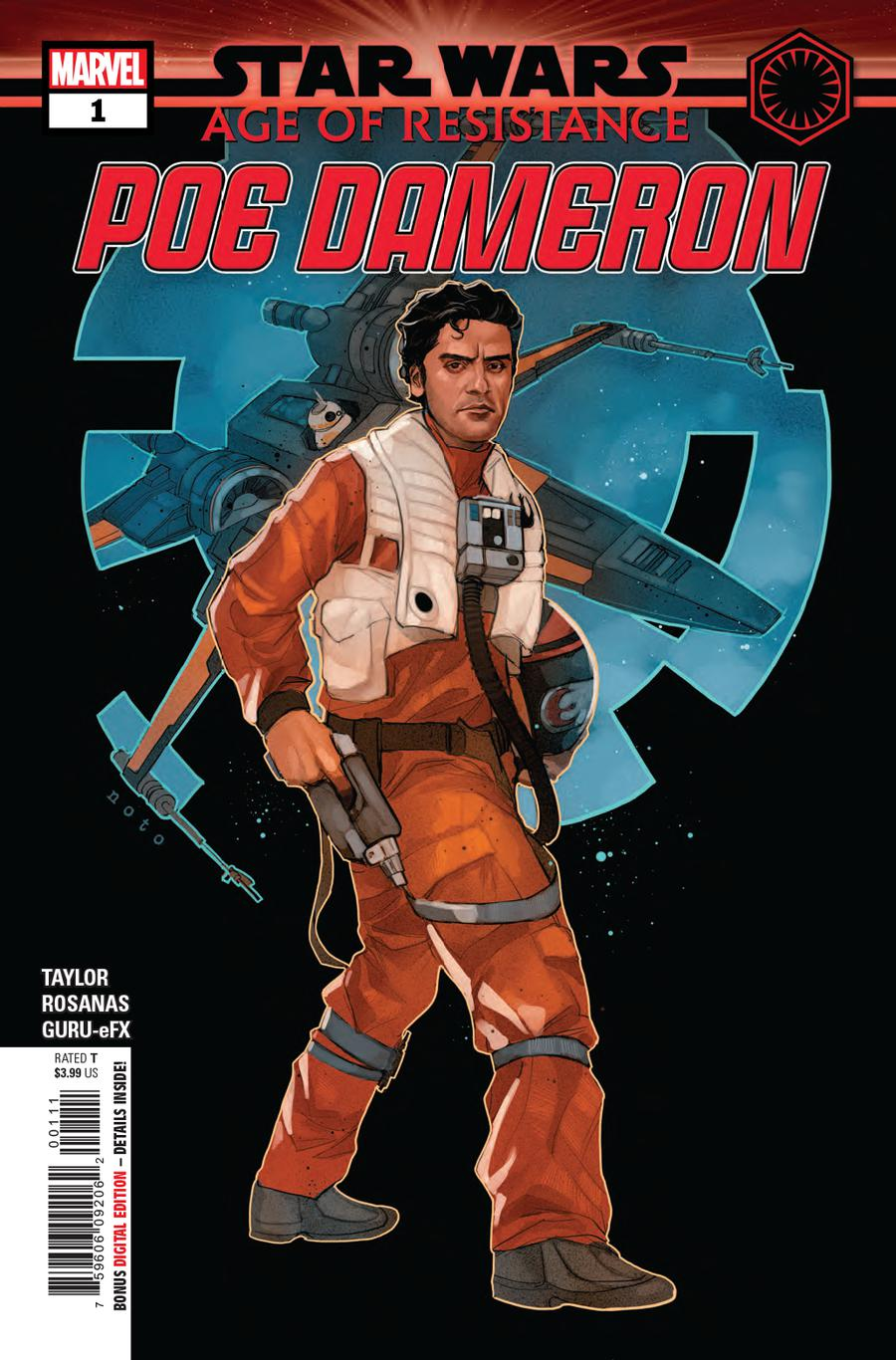 Star Wars Age Of Resistance Poe Dameron #1 Cover A Regular Phil Noto Cover