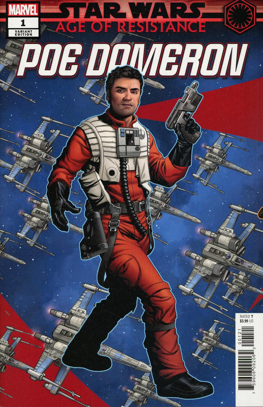 Star Wars Age Of Resistance Poe Dameron #1 Cover B Variant Mike McKone Puzzle Piece Cover
