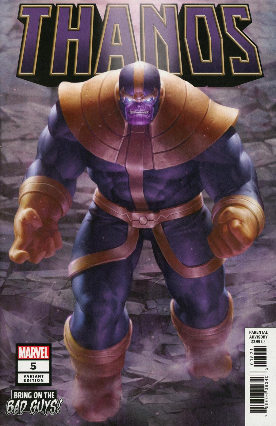 Thanos Vol 3 #5 Cover B Variant Junggeun Yoon Bring On The Bad Guys Cover