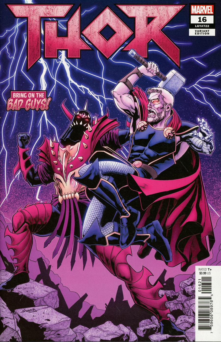 Thor Vol 5 #16 Cover B Variant Will Sliney Bring On The Bad Guys Cover