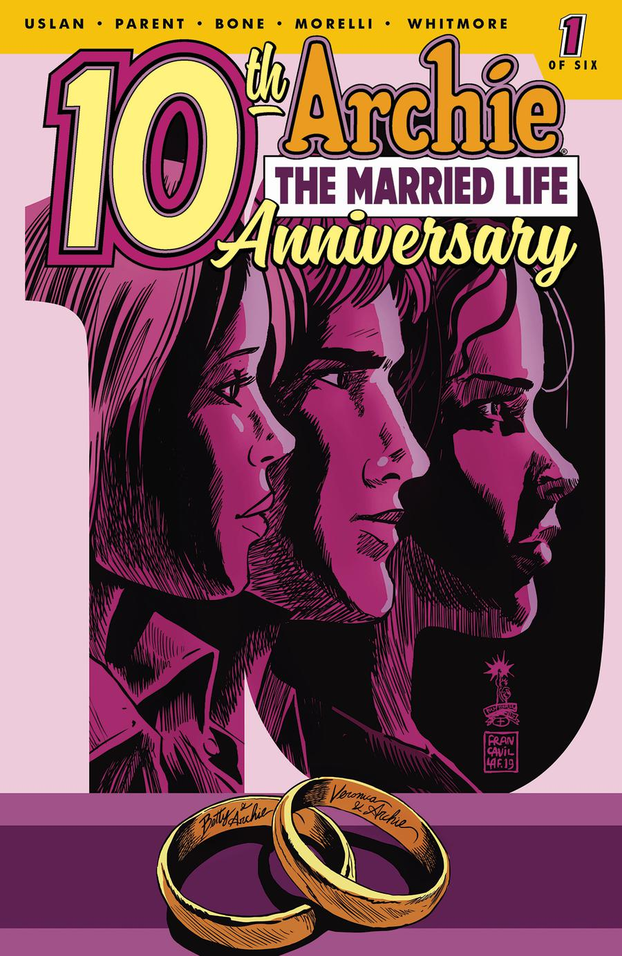 Archie The Married Life 10th Anniversary #1 Cover C Variant Francesco Francavilla Cover
