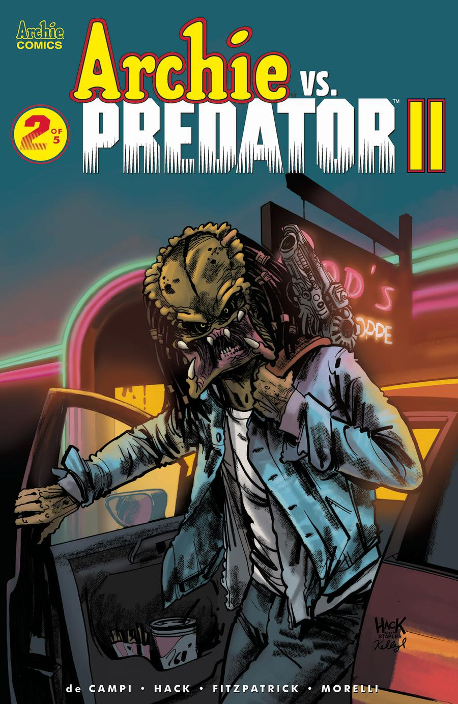 Archie vs Predator II #2 Cover A Regular Robert Hack & Kelly Fitzpatrick Cover