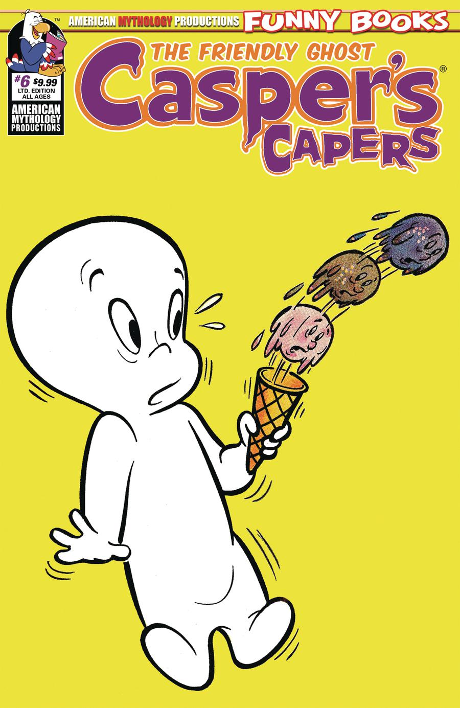 Caspers Capers #6 Cover B Limited Edition Retro Animation Cover