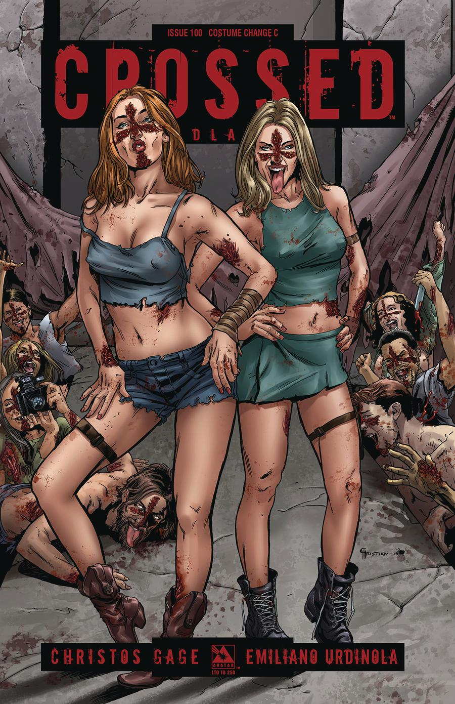 Crossed Badlands #100 Cover L Costume Change C Cover