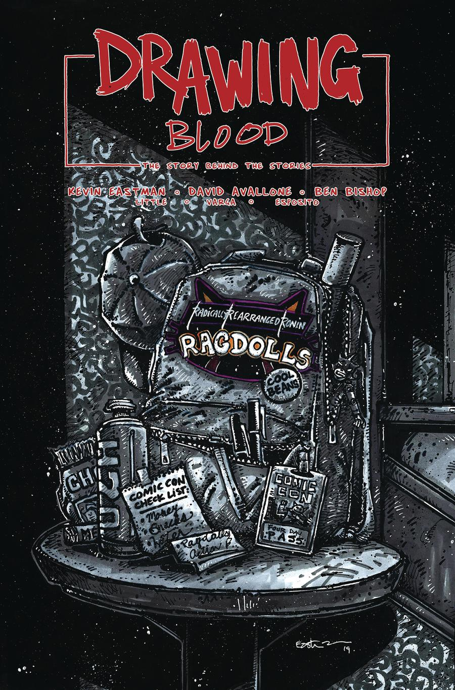 Drawing Blood Spilled Ink #4 Cover B Variant Kevin Eastman Cover