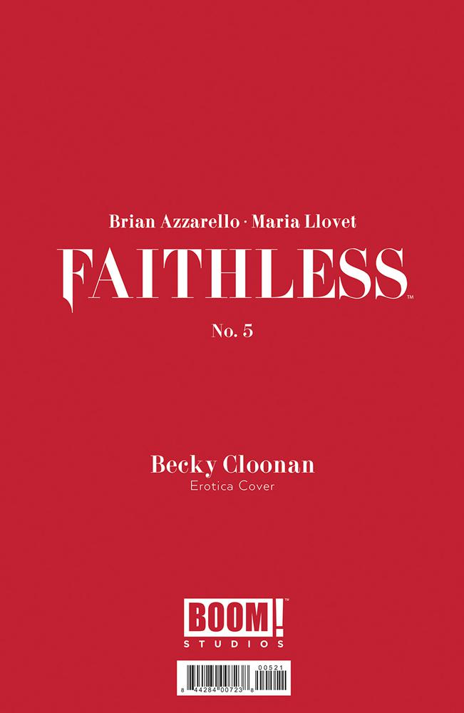 Faithless #5 Cover B Variant Becky Cloonan Erotica Cover With Polybag