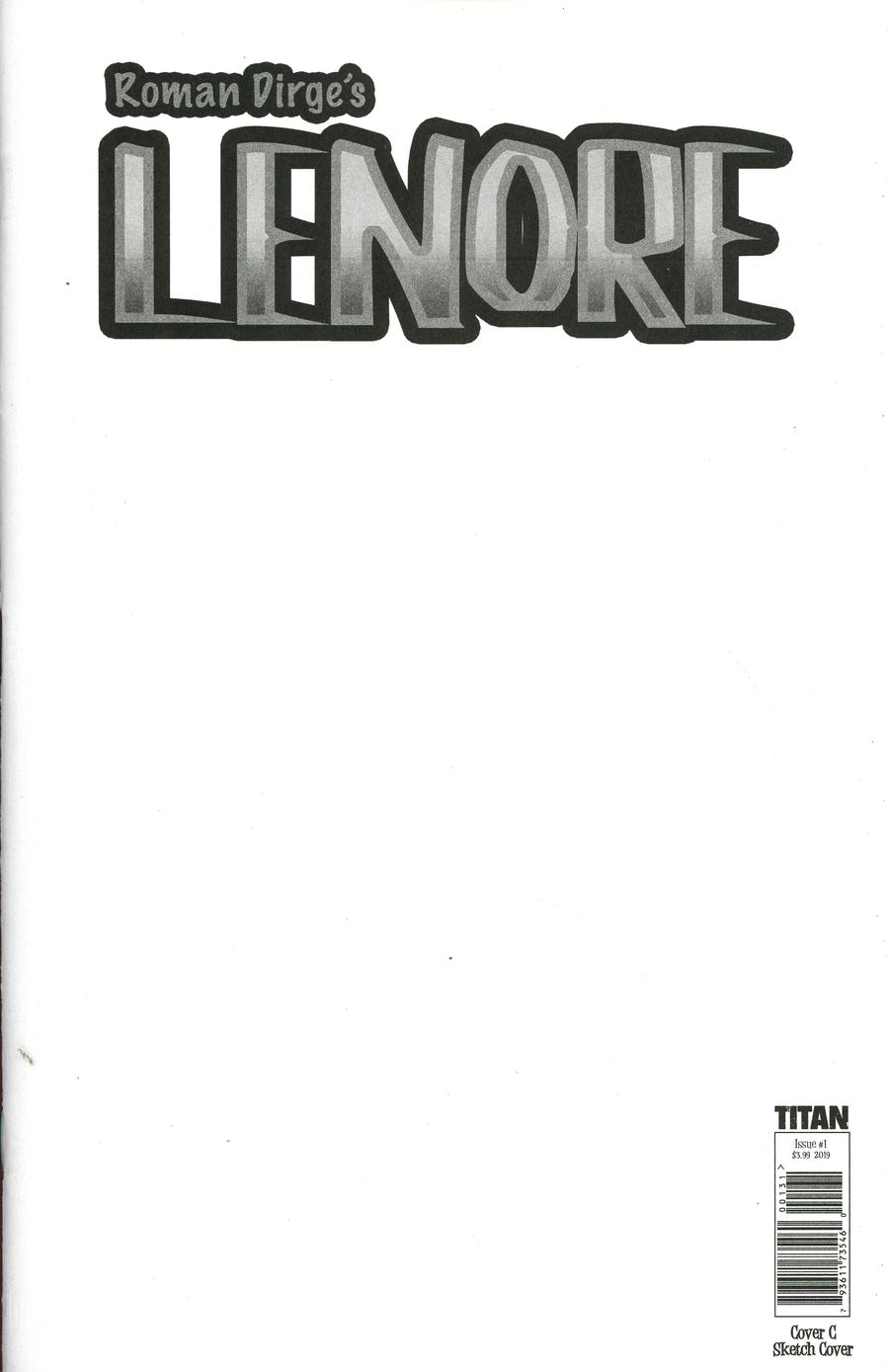Lenore Vol 3 #1 Cover C Variant Blank Cover