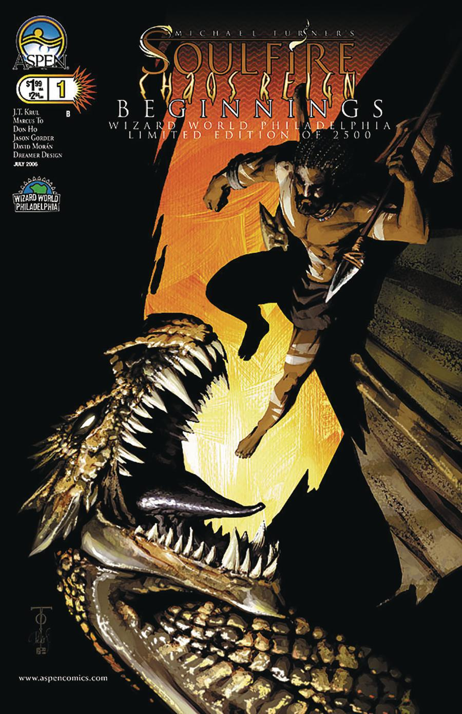 Soulfire Chaos Reign Beginnings Cover B Wizard World Philly 2006 Exclusive Peter Steigerwald Variant Cover
