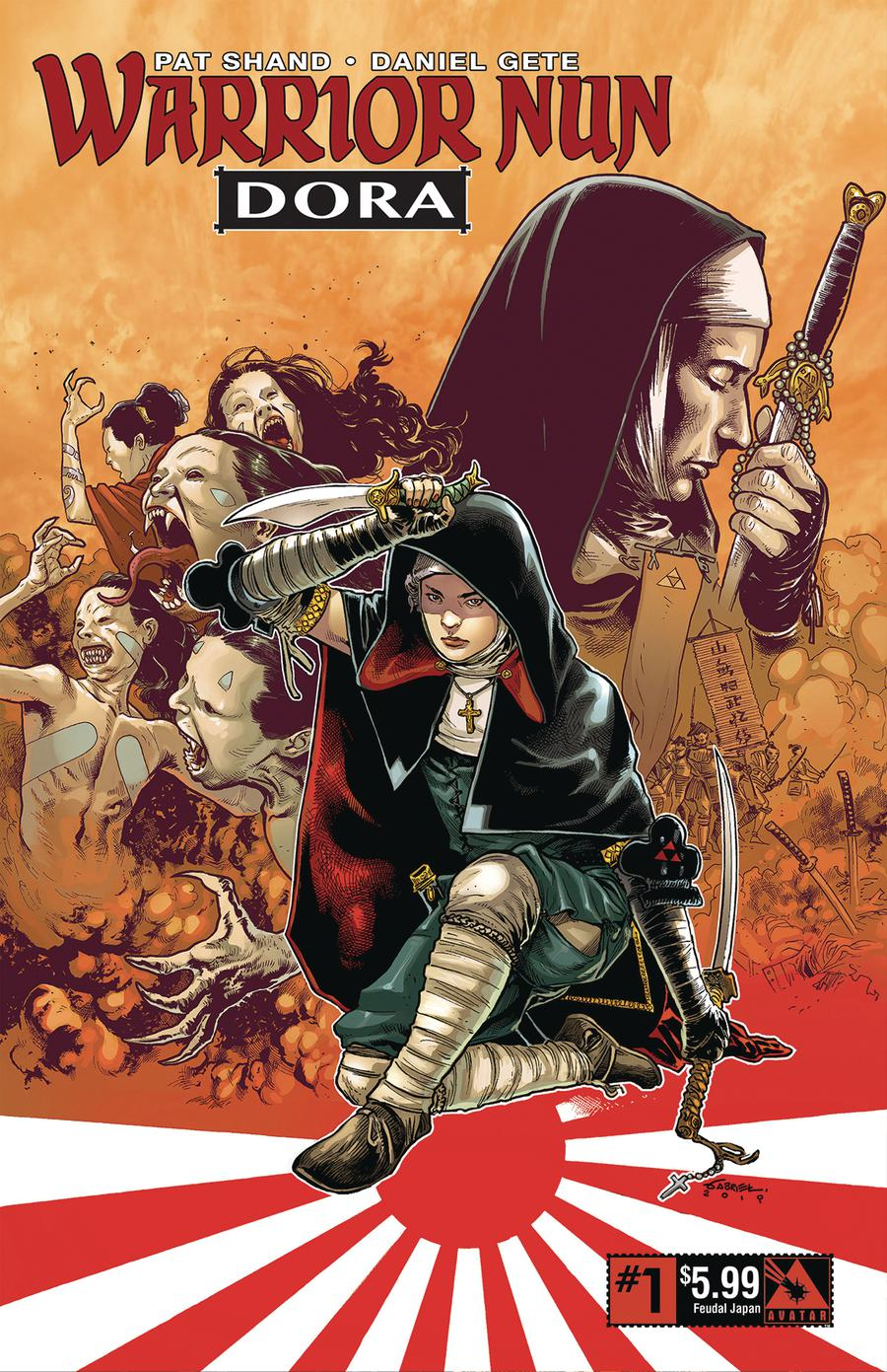 Warrior Nun Dora #1 Cover J Feudal Japan Cover