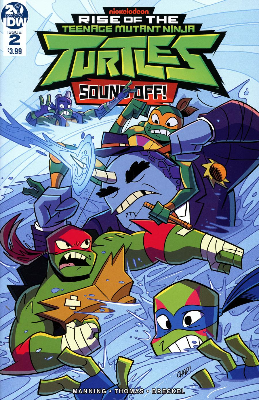 Rise Of The Teenage Mutant Ninja Turtles Sound Off #2 Cover A Regular Chad Thomas Cover