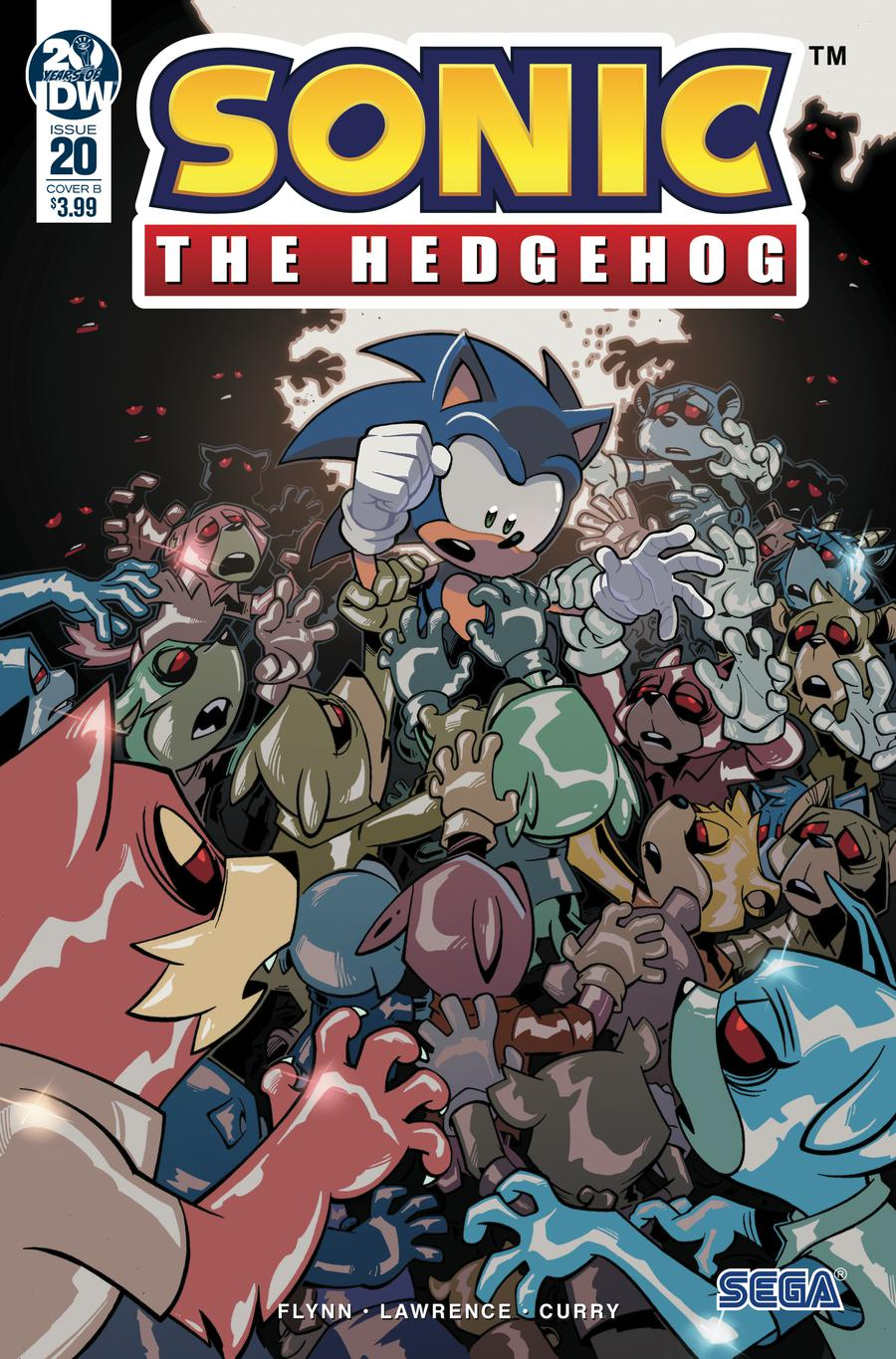 Sonic The Hedgehog Vol 3 #20 Cover B Variant Jack Lawrence Cover