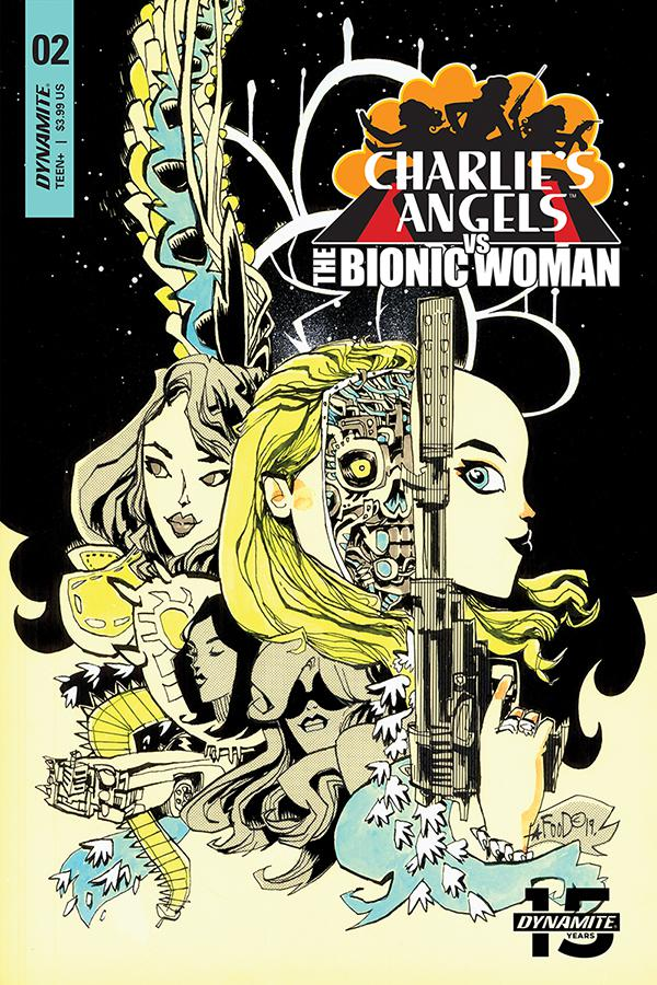 Charlies Angels vs The Bionic Woman #2 Cover B Variant Jim Mahfood Cover