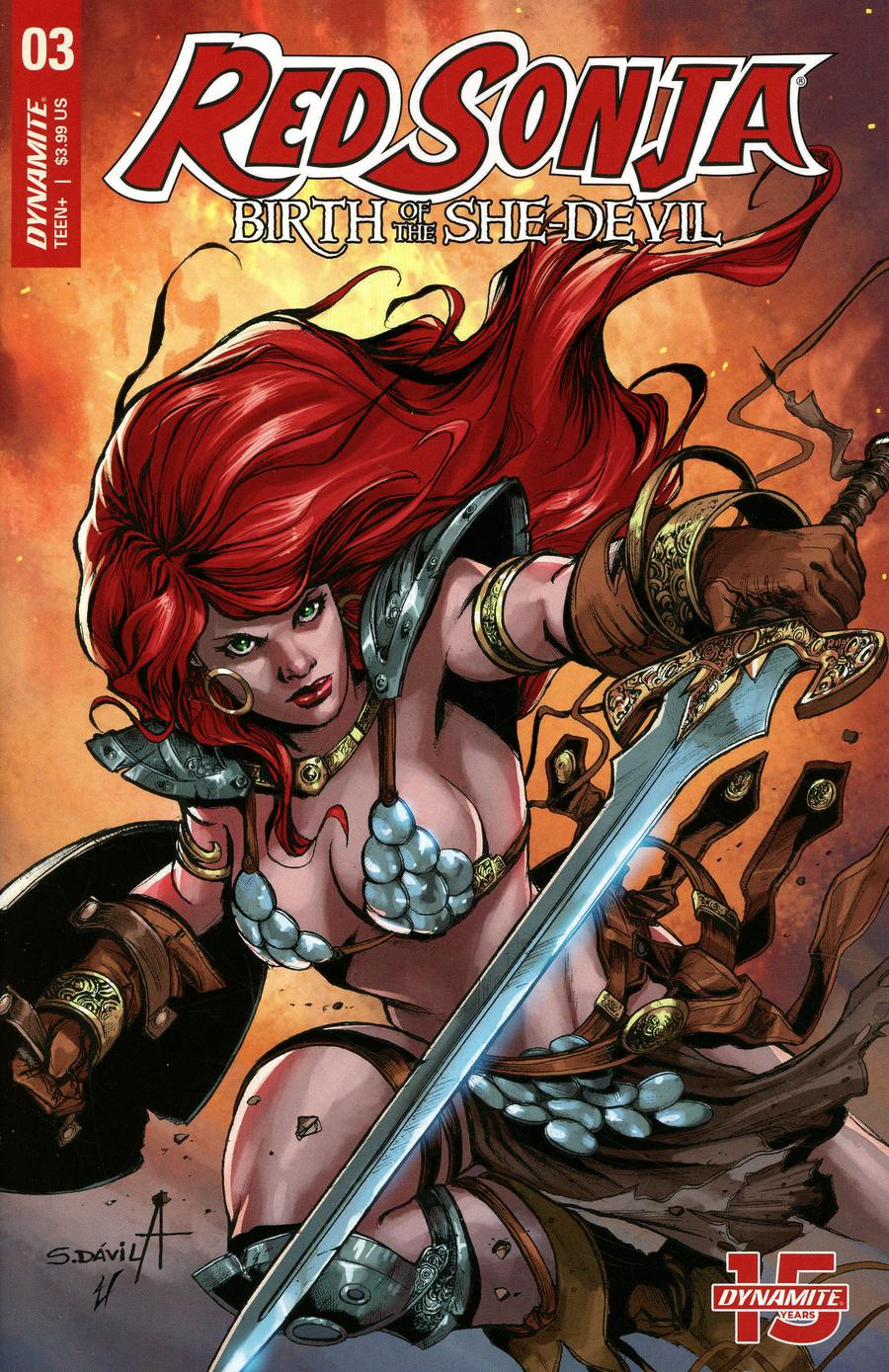 Red Sonja Birth Of The She-Devil #3 Cover B Variant Sergio Davila Cover