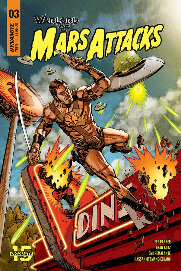 Warlord Of Mars Attacks #3 Cover A Regular Dave Johnson Cover