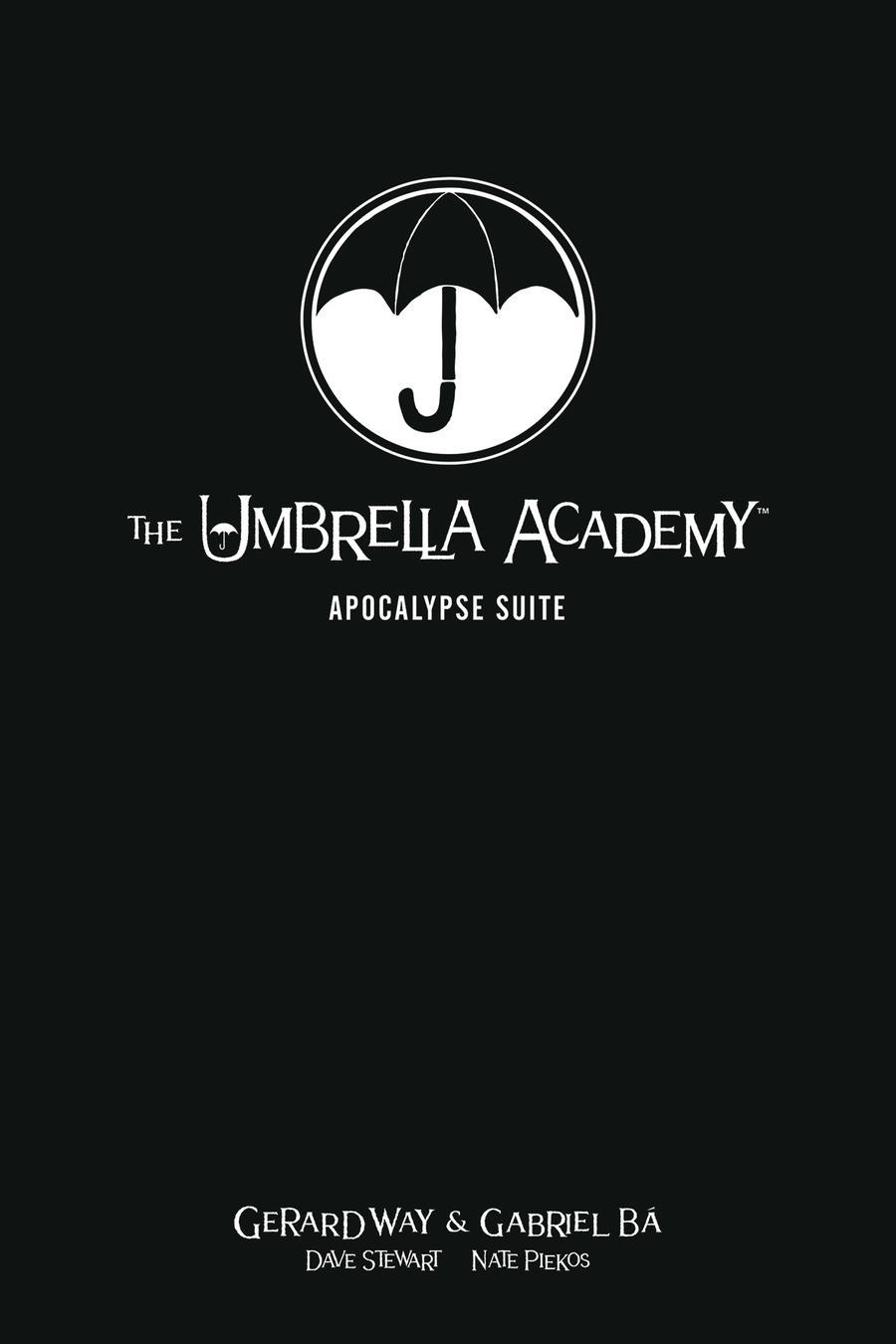 Umbrella Academy Library Edition Vol 1 Apocalypse Suite HC