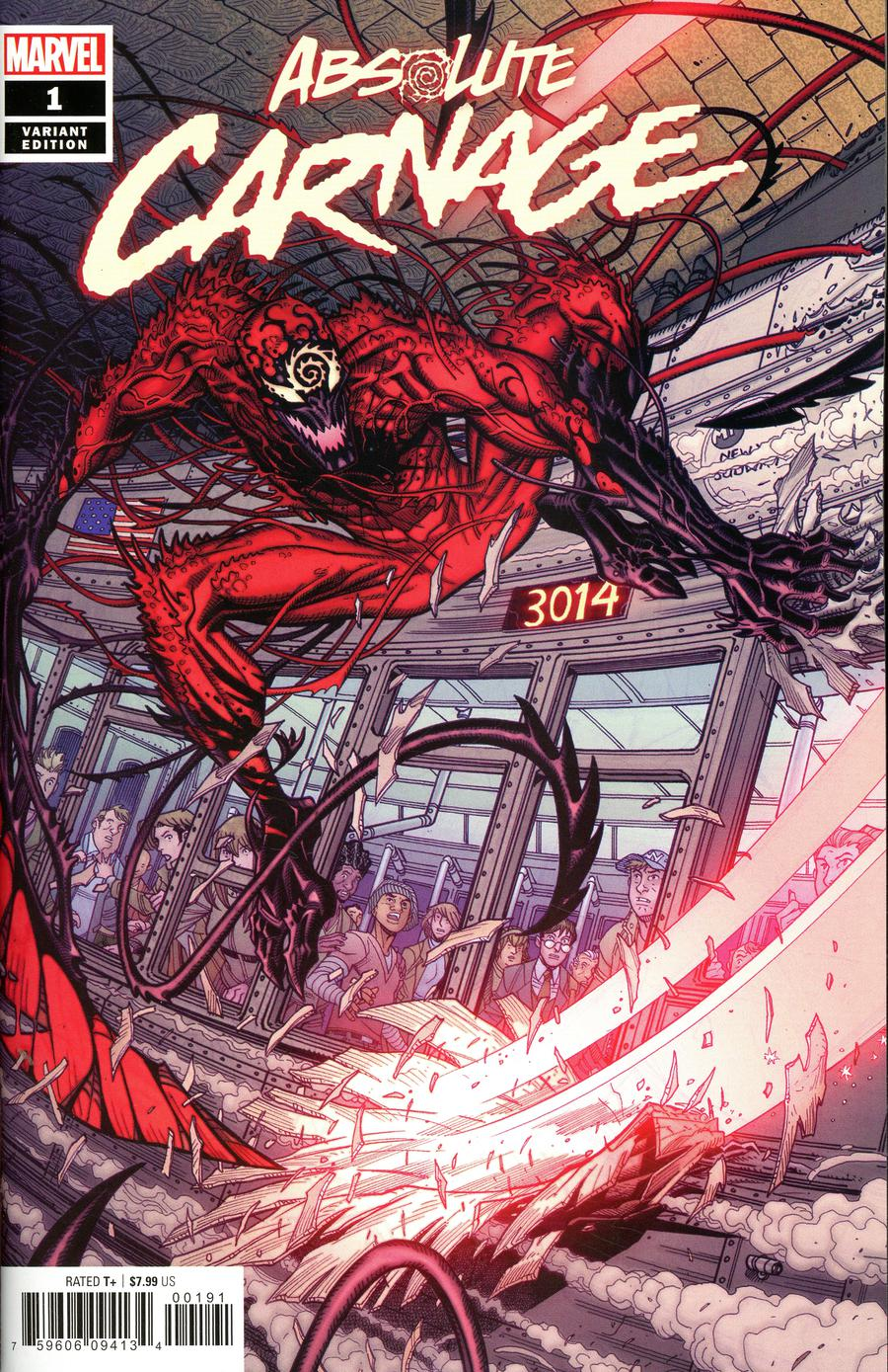 Absolute Carnage #1 Cover K Incentive Nick Bradshaw Variant Cover