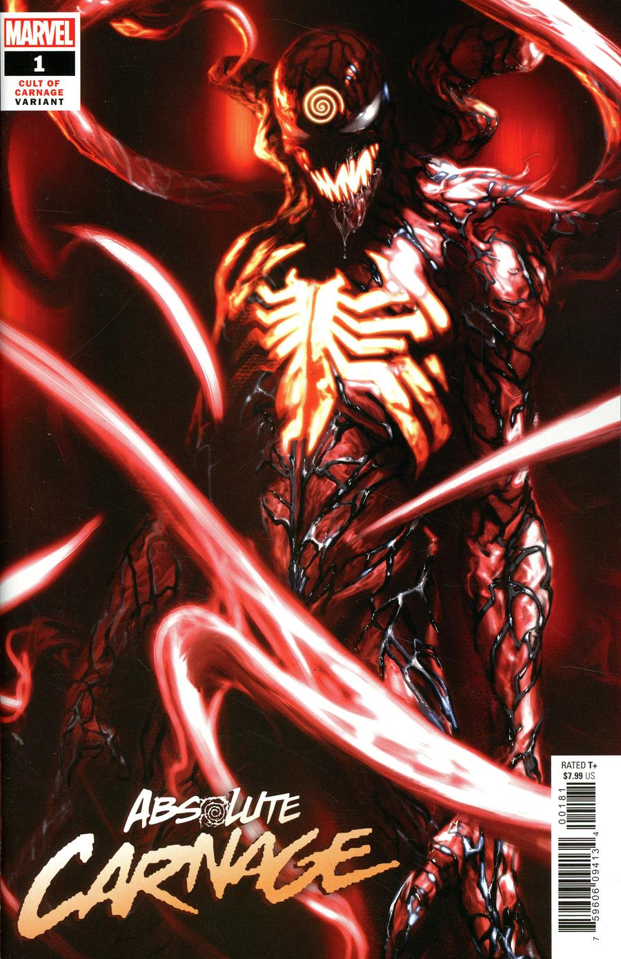 Absolute Carnage #1 Cover J Incentive Gabriele Dell Otto Cult Of Carnage Variant Cover