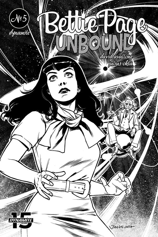 Bettie Page Unbound #5 Cover M Incentive Julius Ohta Black & White Cover