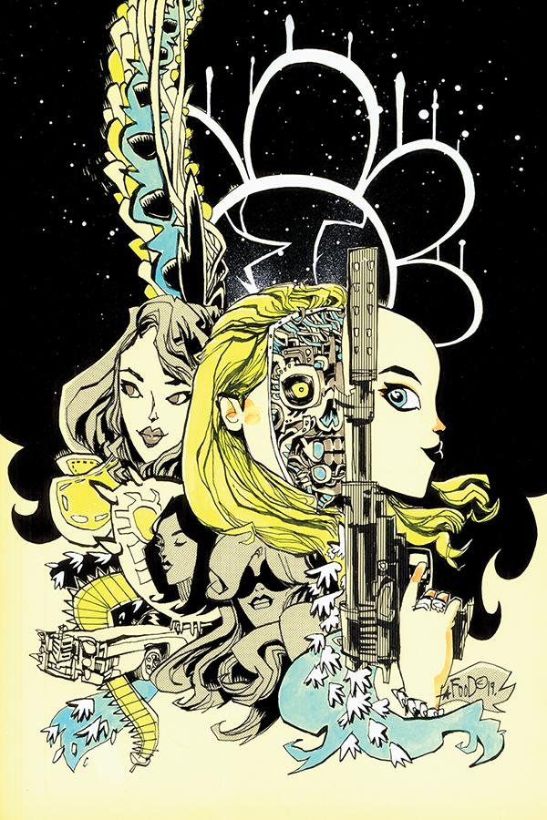 Charlies Angels vs The Bionic Woman #2 Cover E Incentive Jim Mahfood Virgin Cover
