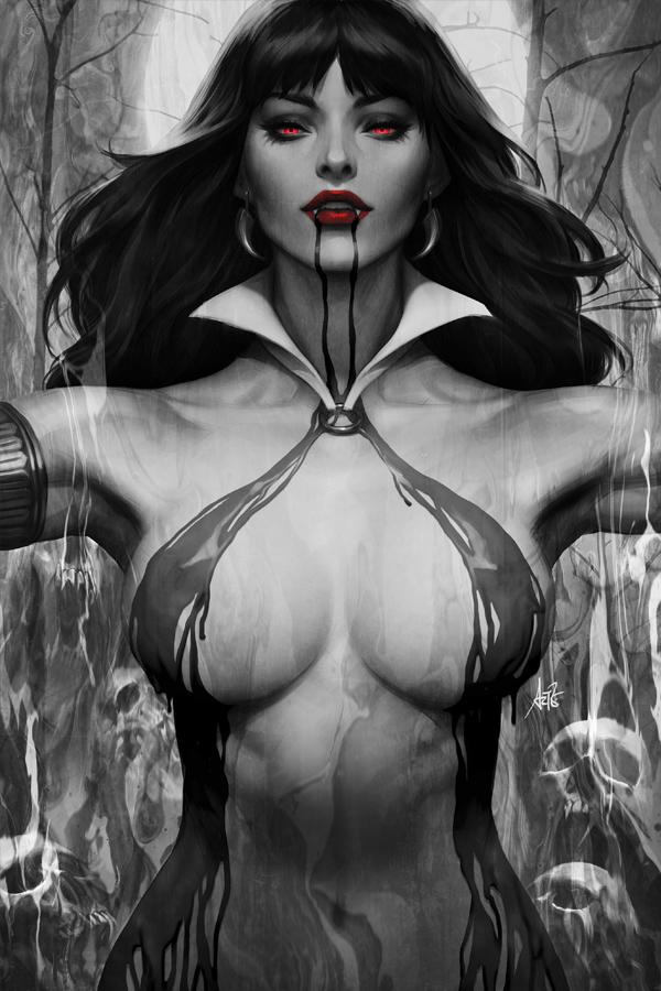 Vampirella Vol 8 #2 Cover L Incentive Stanley Artgerm Lau Noir Black & White Cover