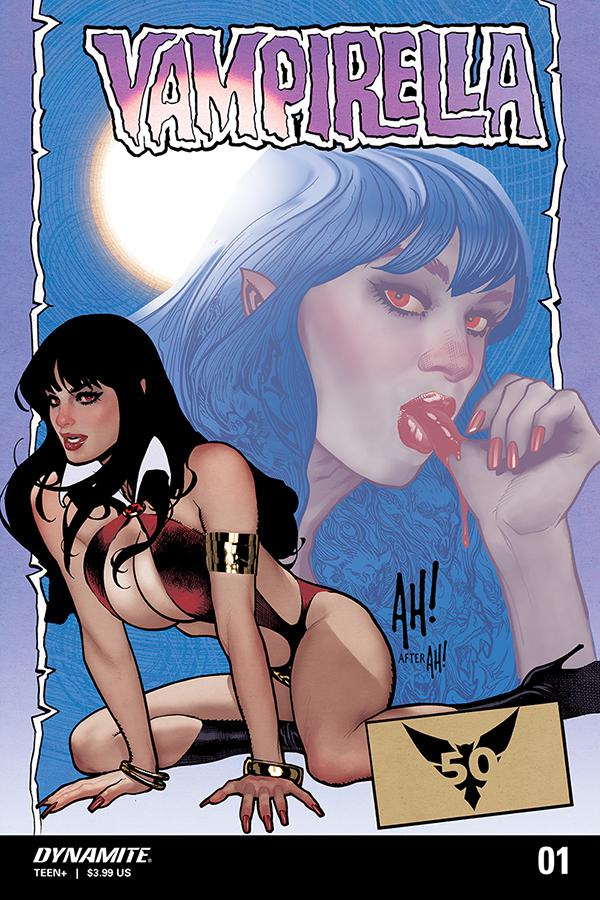 Vampirella Vol 8 #1 Cover Z-B DF Blood Red Signature Series Signed By Adam Hughes