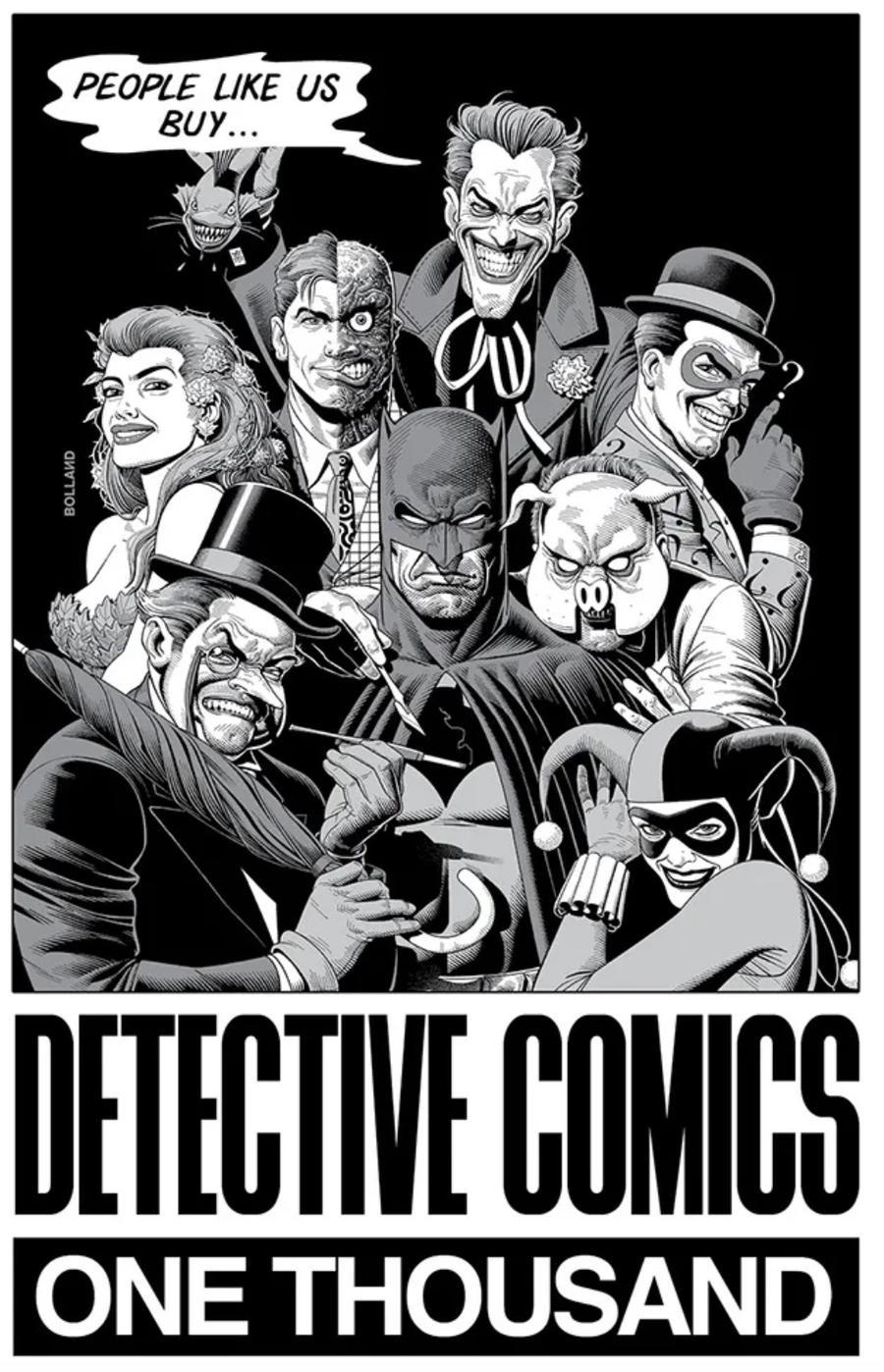 Detective Comics Vol 2 #1000 Cover Z-S DF Jetpack Comics Forbidden Planet Exclusive Brian Bolland Ink Variant Cover