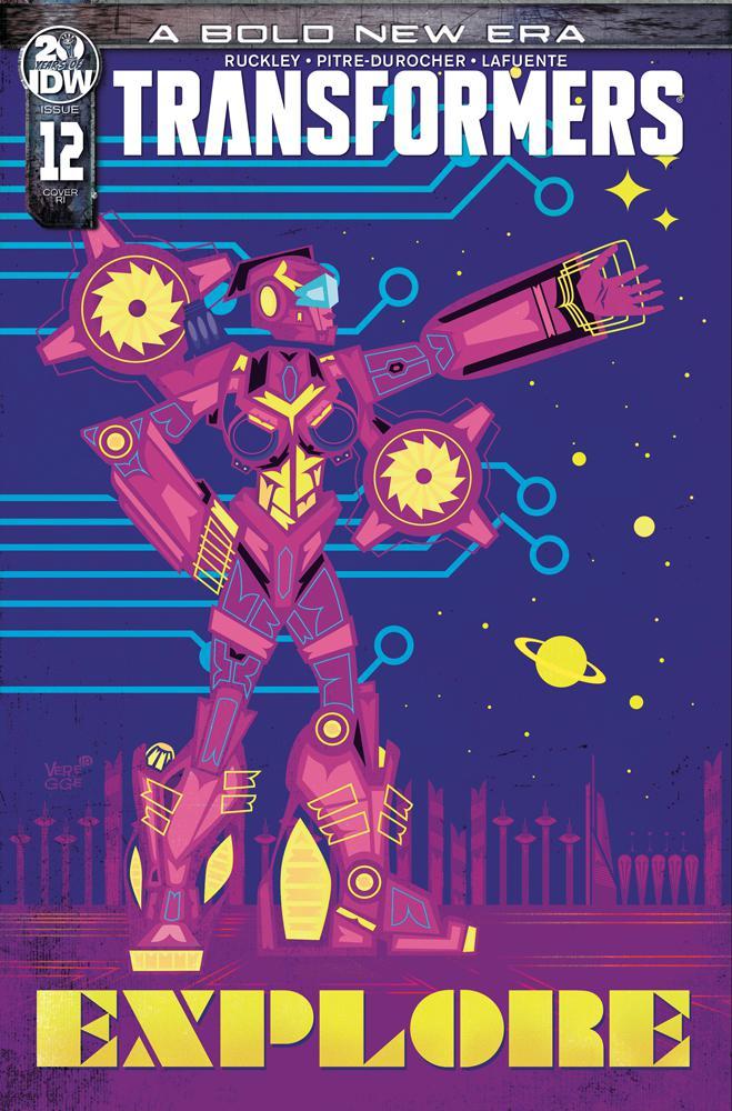 Transformers Vol 4 #12 Cover C Incentive Jeffrey Veregge Variant Cover