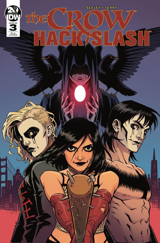 Crow Hack Slash #3 Cover B Incentive Rebekah A Isaacs Variant Cover