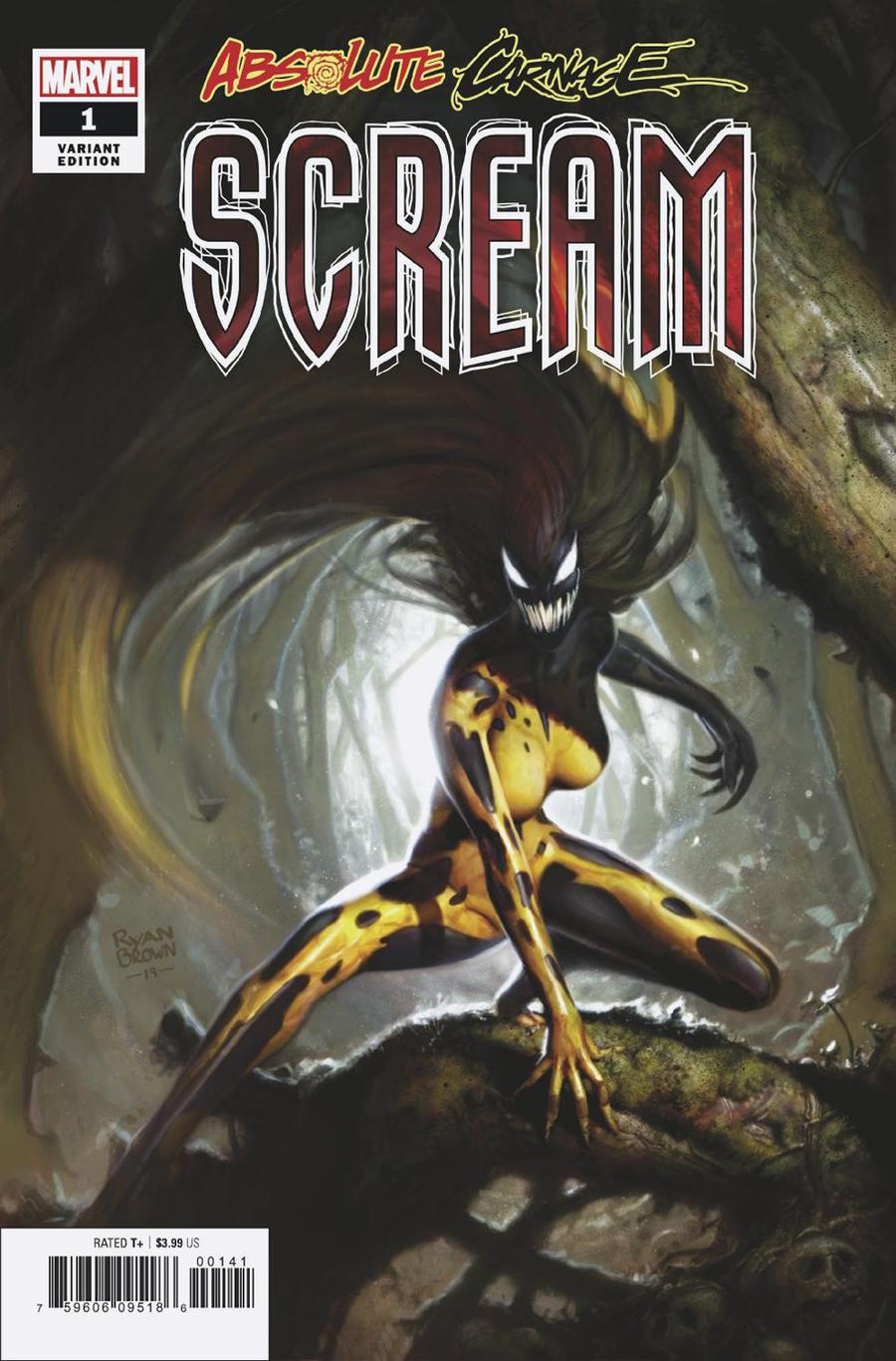 Absolute Carnage Scream #1 Cover E Incentive Ryan Brown Variant Cover