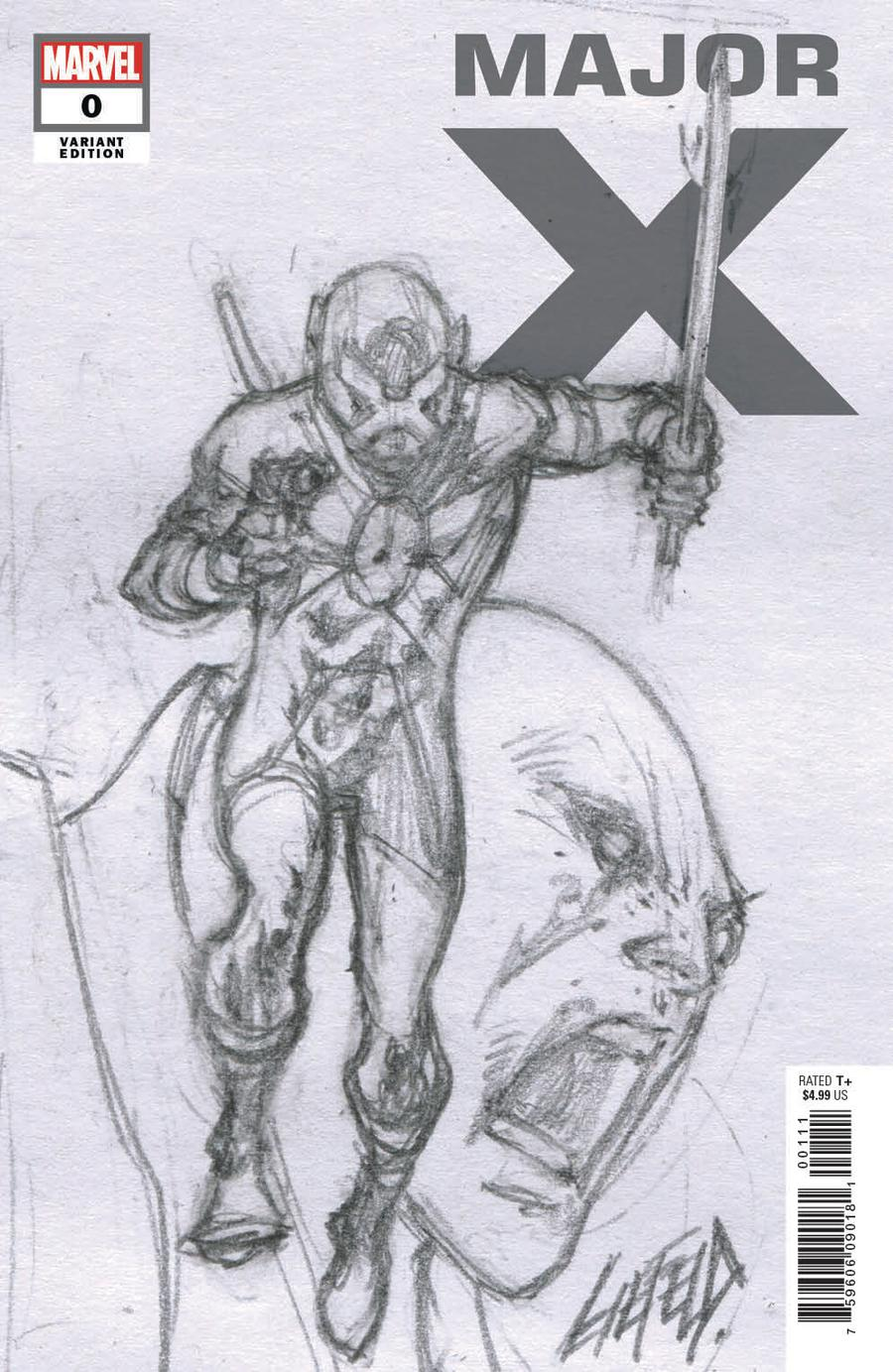 Major X #0 Cover D Incentive Rob Liefeld Sketch Cover