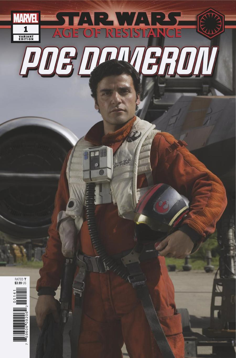Star Wars Age Of Resistance Poe Dameron #1 Cover E Incentive Movie Variant Cover