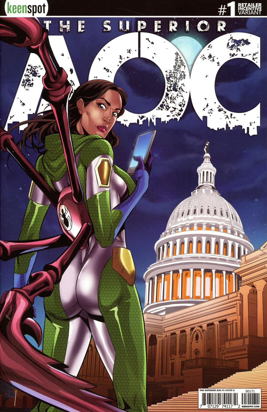 Superior AOC #1 Cover G Incentive Mel Joy San Juan Arms Out Variant Cover