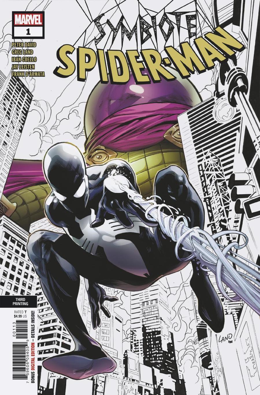 Symbiote Spider-Man #1 Cover N 3rd Ptg Variant Greg Land Cover