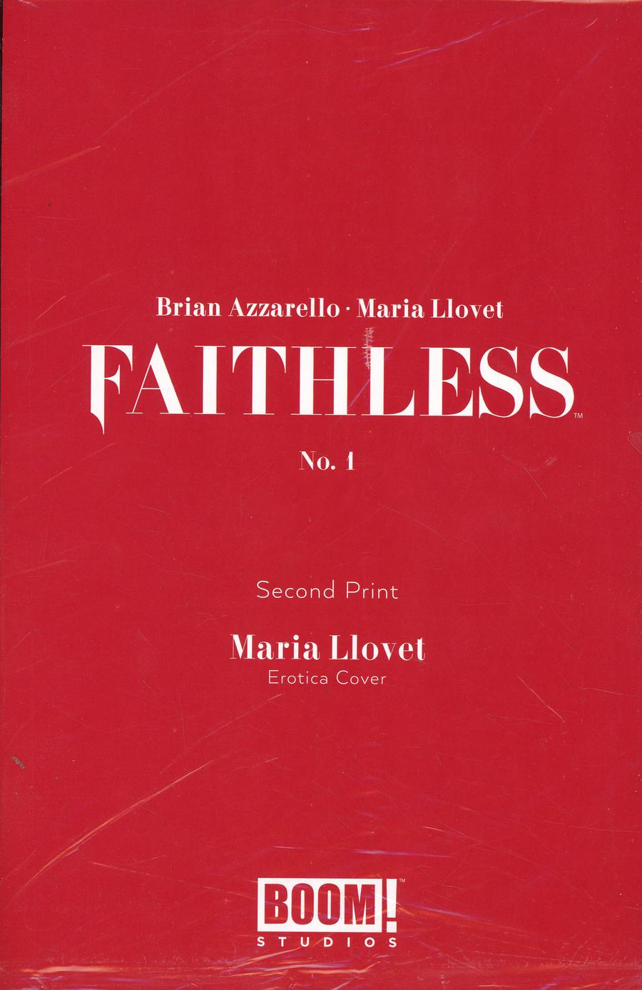 Faithless #1 Cover G 2nd Ptg Variant Maria Llovet Erotica Cover Without Polybag