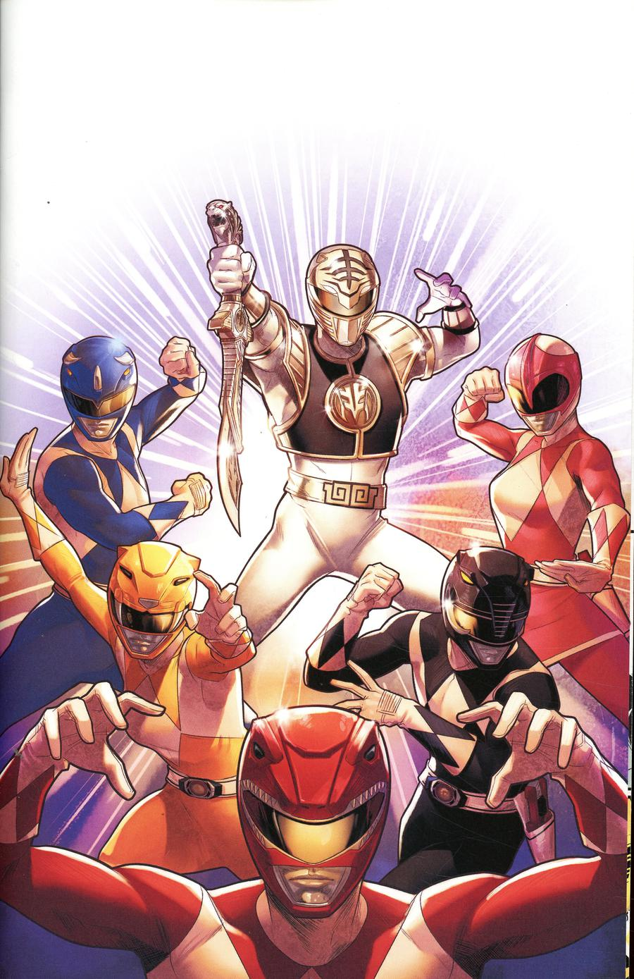 Mighty Morphin Power Rangers (BOOM Studios) #40 Cover E Incentive Jamal Campbell Variant Cover