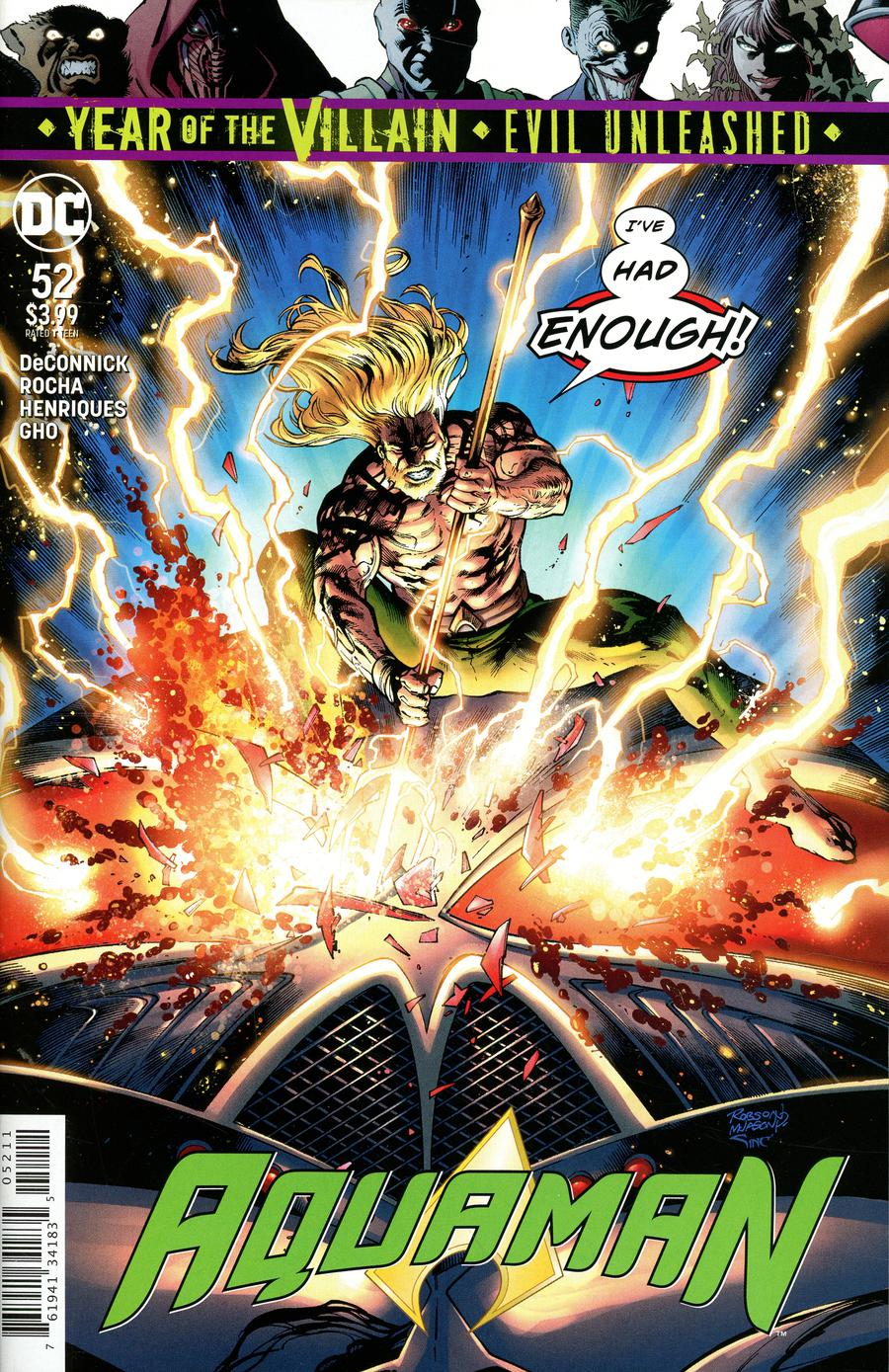 Aquaman Vol 6 #52 Cover A Regular Robson Rocha & Jason Paz Cover (Year Of The Villain Evil Unleashed Tie-In)