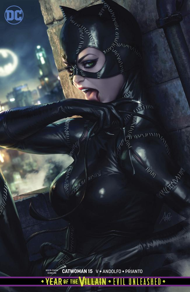 Catwoman Vol 5 #15 Cover B Variant Stanley Artgerm Lau Card Stock Cover (Year Of The Villain Evil Unleashed Tie-In)