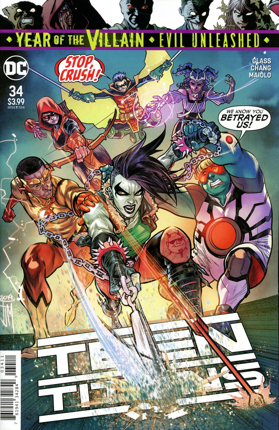 Teen Titans Vol 6 #34 Cover A Regular Francis Manapul Cover (Year Of The Villain Evil Unleashed Tie-In)