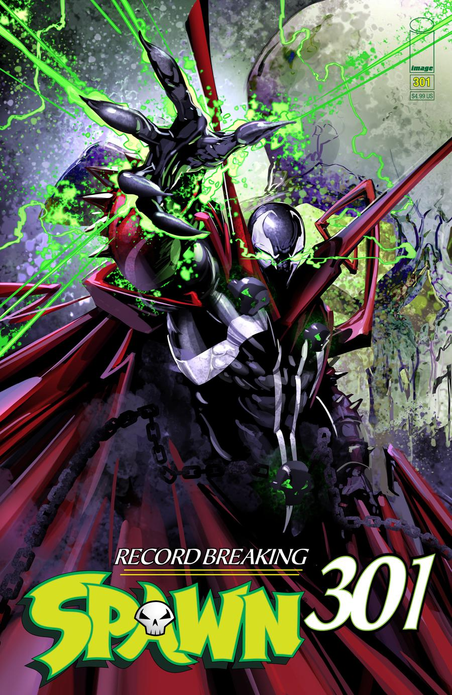 Spawn #301 Cover E Variant Clayton Crain Cover