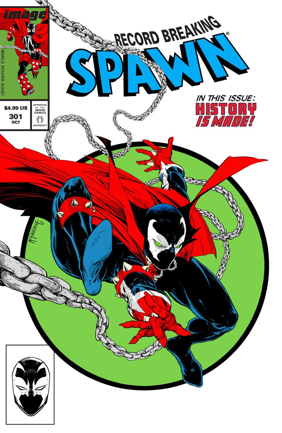 Spawn #301 Cover H Variant Todd McFarlane Parody Cover